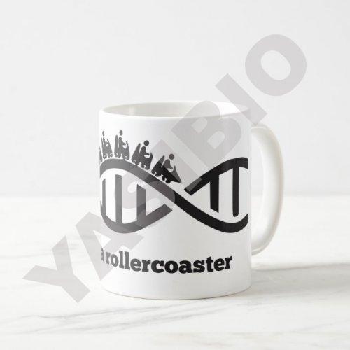 ماگ ساده طرح DNA rollercoaster